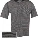 Мужская поло в черно-белую полоску (INF020002) Pebble Beach Stripe