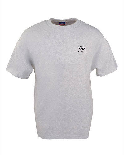Мужская серая футболка (INF010001) Champion Cotton Jersey T-Shirt Silver