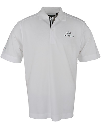 Мужская белая рубашка поло (INF020001) Mens C Tech Solid Polo White