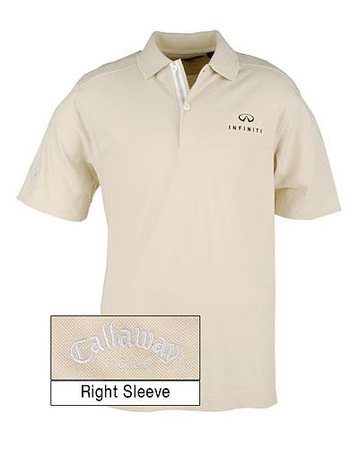 Мужская рубашка поло (INF020007) Callaway C-Tech Polo — Sand Wash