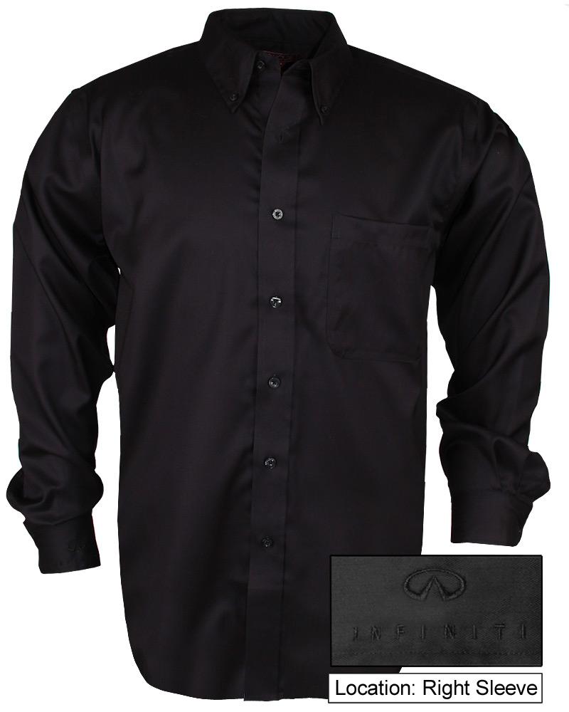 Мужская черная рубашка (INF030001) Mens Easy Care Buttondown