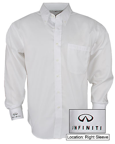 Мужская белая рубашка (INF030002) Mens Easy Care Buttondown Shirt White