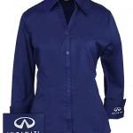 Женская синяя блуза (INF030006) Ladies Blouse — Mediterranean Blue