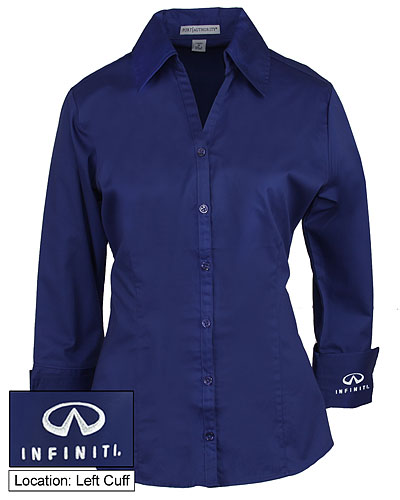 Женская синяя блуза (INF030006) Ladies Blouse — Mediterranean Blue