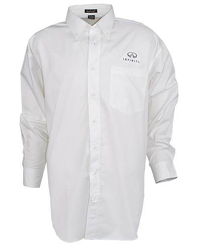 Мужская белая рубашка (INF030008) Mens Performance Twill Shirt — White