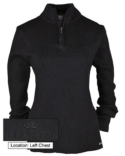Женский черный свитер (INF070001) Ladies 1/2 Zip Sweater Black