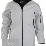 Мужская серая куртка (INF070009) Mens Soft Shell Jacket — Stone/Black