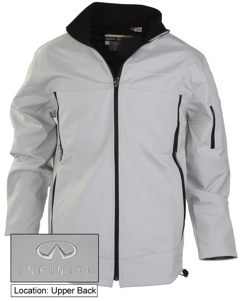 Мужская серая куртка (INF070009) Mens Soft Shell Jacket — Stone/Black