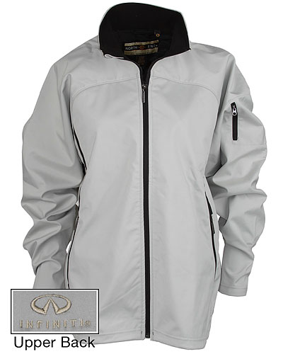 Женская серая куртка (INF070011) Ladies Soft Shell Jacket — Silver