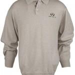 Мужской свитер поло (INF070014) Mens Polo Sweater — Khaki