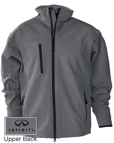 Мужская серая куртка (INF070016) Mens Soft Shell Jacket — Silver