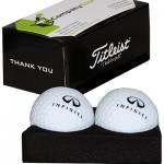 Два шара для гольфа (INF19000400) Two Ball Business Card Holder