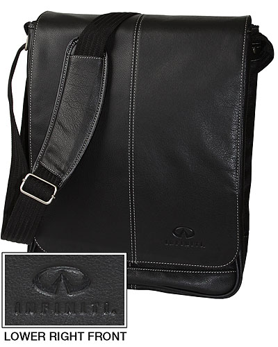 Сумка для ноутбука черная (INF27000300) Leather Vertical Laptop Bag